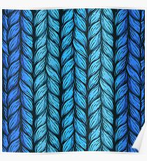 Blue knit Poster