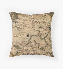 Map of Skyrim (The Elder Scrolls) Throw Pillow
