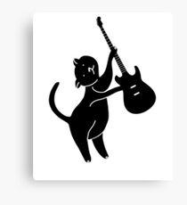 cat playing guitar - cat guitar Canvas Print