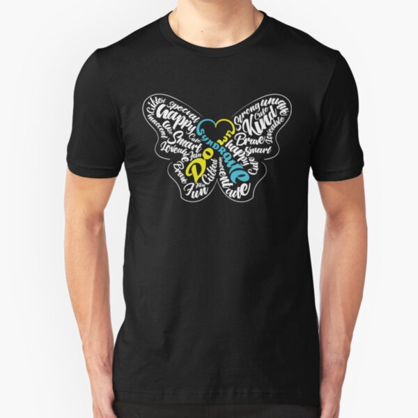 Down Syndrome Awareness Slim Fit T-Shirt