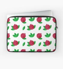 Red pomegranate with green leaves Laptop Sleeve