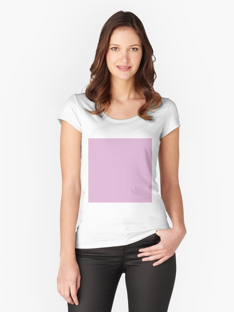 3aa18da85e 'Pink Lavender Solid Color' Fitted Scoop T-Shirt by patternplaten