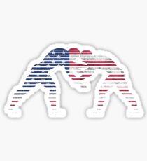 american flag wrestling Sticker