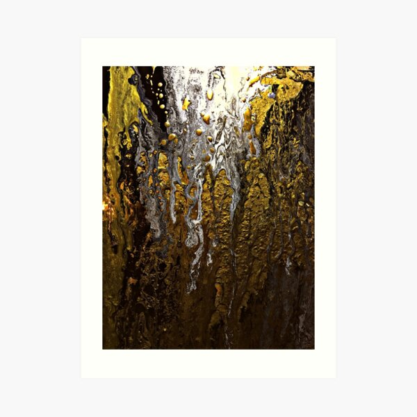GOLD AND SILVER MINE Art Print