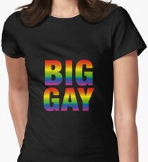 BIG GAY Women's Fitted T-Shirt