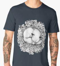 Fox Sleeping in Flowers Men's Premium T-Shirt