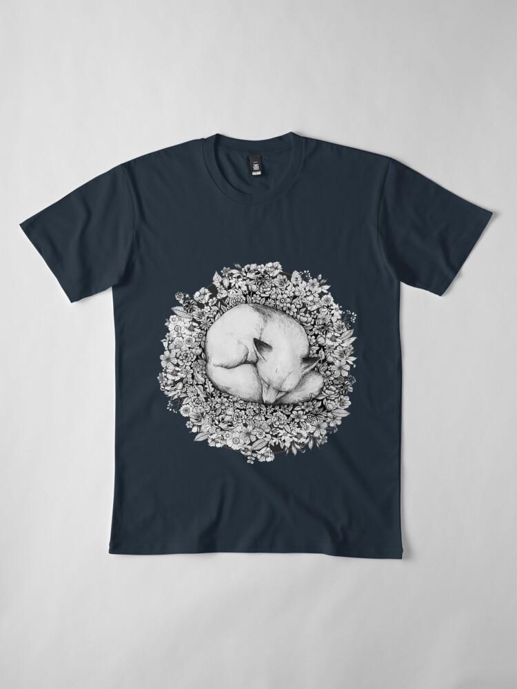 Alternate view of Fox Sleeping in Flowers Premium T-Shirt