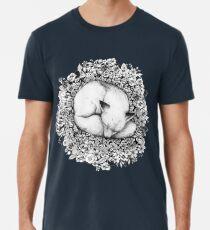Fox in Blumen schlafen Männer Premium T-Shirts