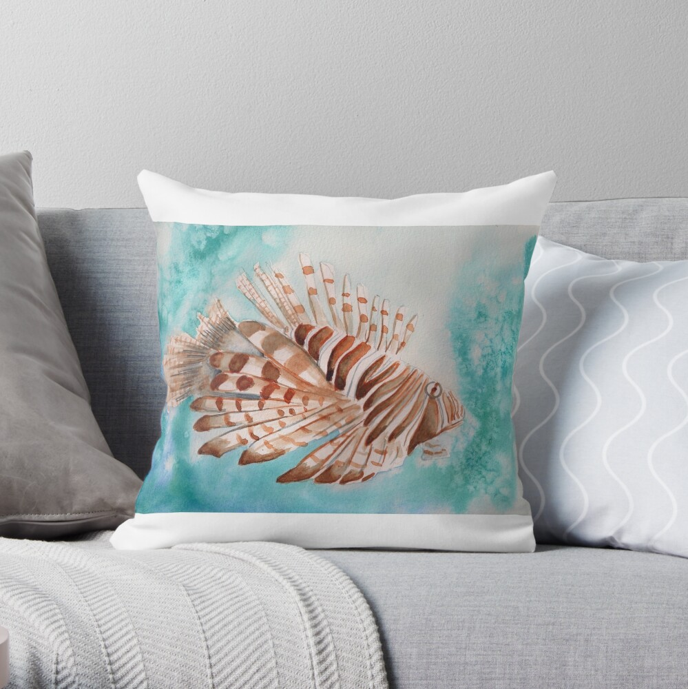 Lion Fish Throw Pillow
