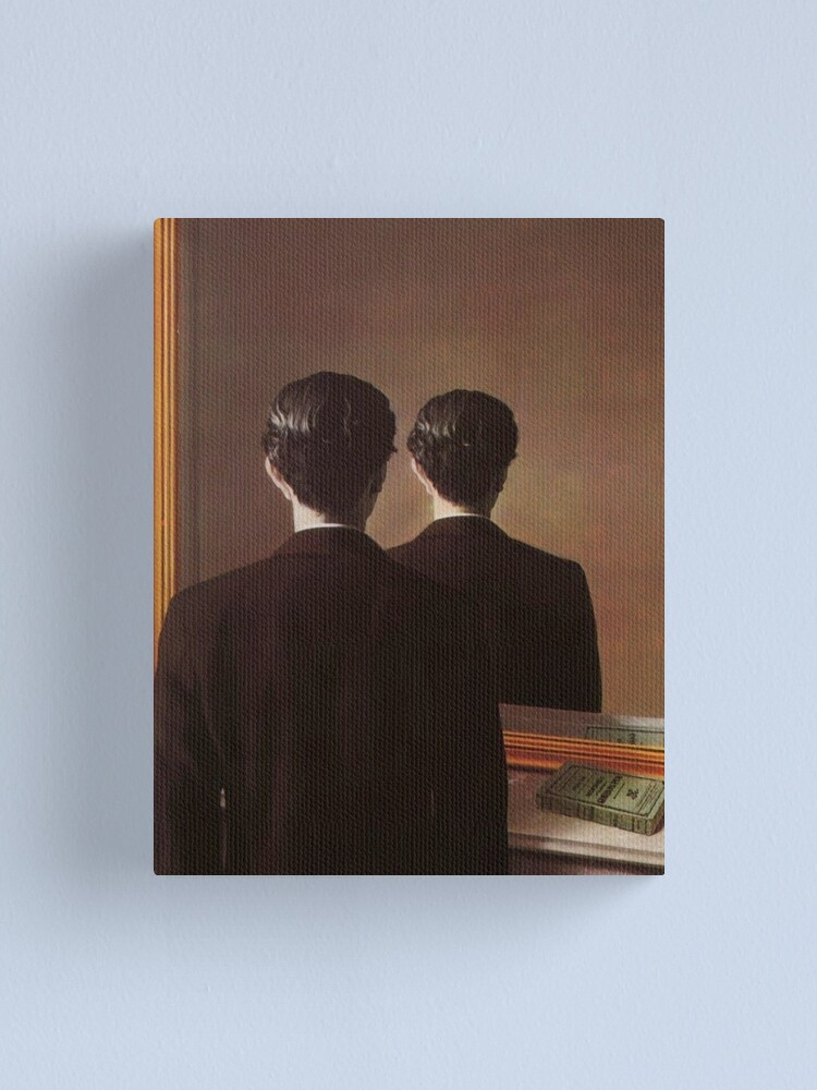 Alternate view of Not to Be Reproduced(La reproduction interdite)-René Magritte Canvas Print