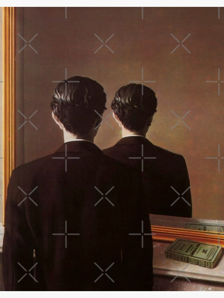 Not to Be Reproduced(La reproduction interdite)-René Magritte by LexBauer