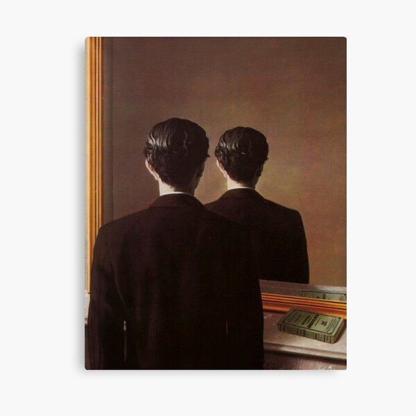 Not to Be Reproduced(La reproduction interdite)-René Magritte Canvas Print