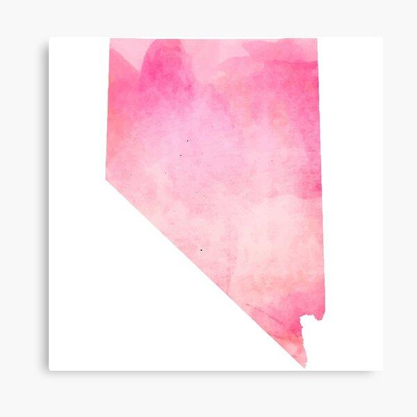 Pink Watercolor Nevada Canvas Print