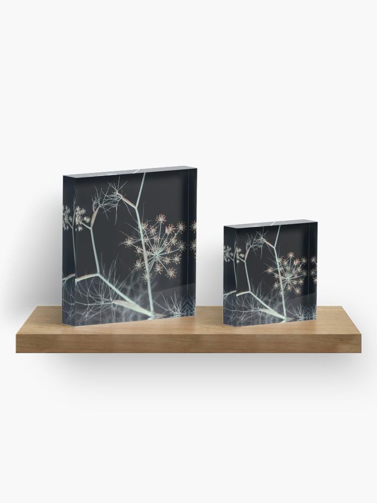 Alternate view of Night Whispers. Dark Floral Acrylic Block