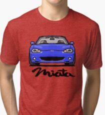 MX5 Miata NB Blue Tri-blend T-Shirt