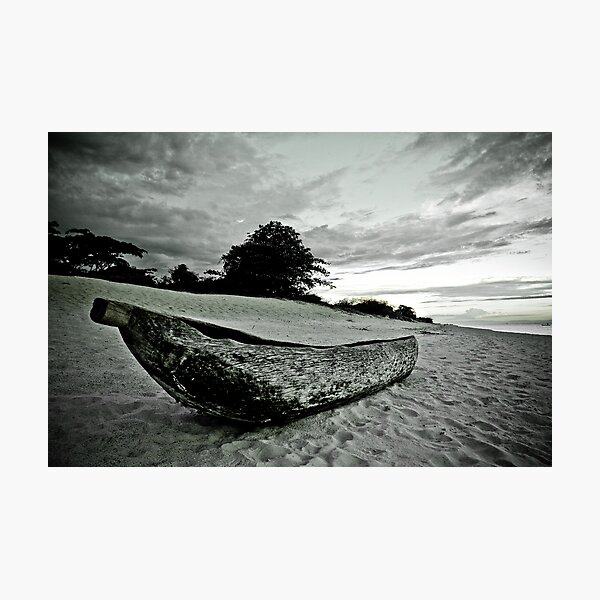 Native Canoe, Lake Malawi Photographic Print