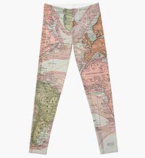 Vintage Map of The World (1883) Leggings