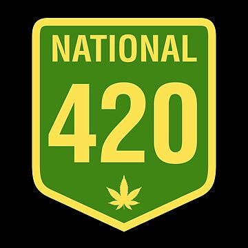 Australia 420 Day National Highway 1 Green Yellow by sumwoman