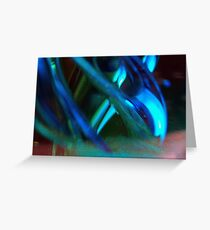 Blue Green Abstract  Greeting Card
