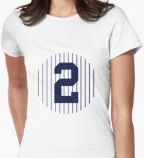 Derek Jeter #2 Women's Fitted T-Shirt