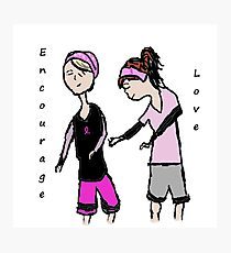 Breast Cancer Awareness Friends Photographic Print
