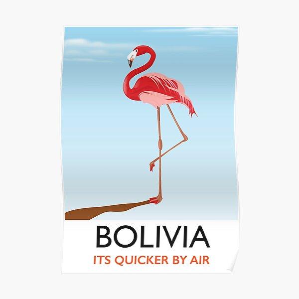 Flamingo Bolivia travel poster Poster