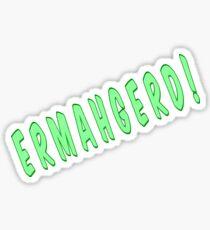 Ermahgerd Graphic Print Sticker