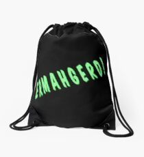 Ermahgerd Graphic Print Drawstring Bag