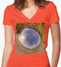 Lisfannon Beach, Fahan, County Donegal - Sky In Women's Fitted V-Neck T-Shirt