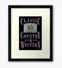 Classic Country & Western (Golden Horseshoe) Framed Print