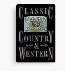 Classic Country & Western (Golden Horseshoe) Canvas Print