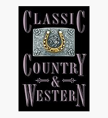 Classic Country & Western (Golden Horseshoe) Photographic Print