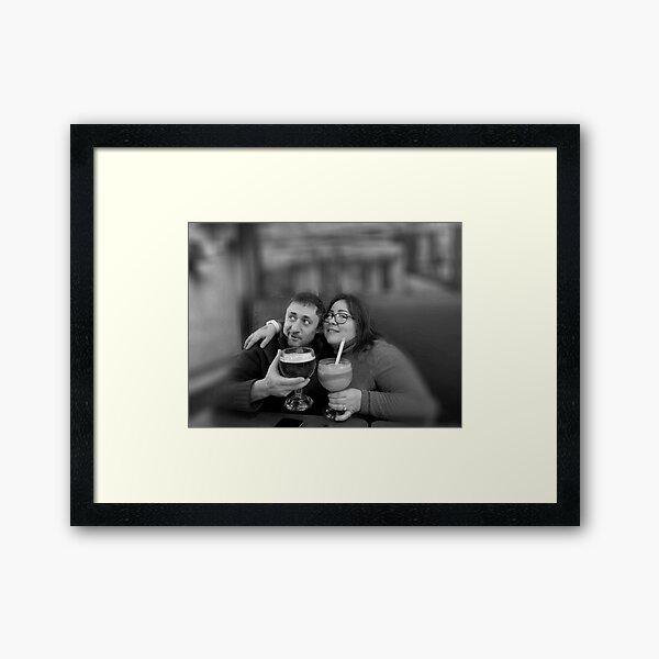 Marrieds, wedded pair Framed Art Print