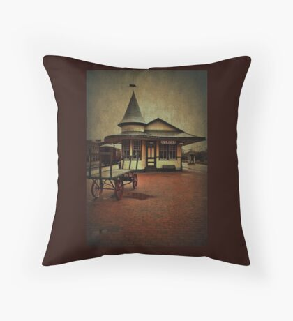 New Hope & Ivyland Railroad Station Throw Pillow