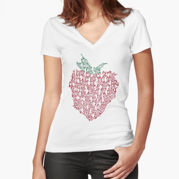 Strawberry Fields Fitted V-Neck T-Shirt