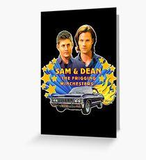 Sam & Dean Vintage Transfer Greeting Card