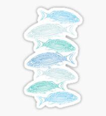 Abstract Fishing Sticker
