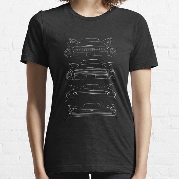 Die Evolution der Heckflosse - Heckschablone, weiß Essential T-Shirt