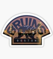 Boston Bruins Skyline Sticker