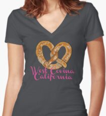West Covina California Women's Fitted V-Neck T-Shirt