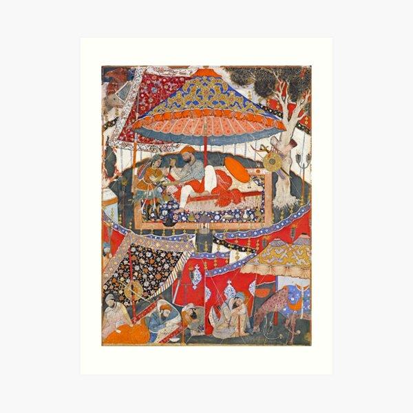 16th Century India Watercolor Painting Art Print