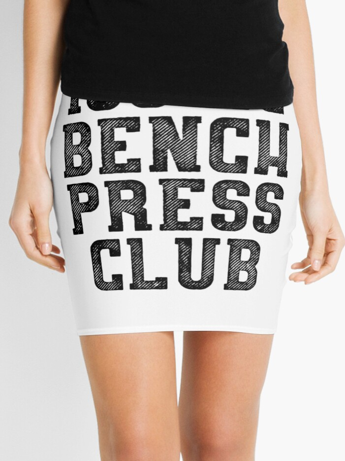100KG Bench Press Club T-Shirt & Stickers - Gym Crossfit Fitness | Mini  Skirt