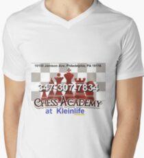 Chess Academy, Poster Men's V-Neck T-Shirt