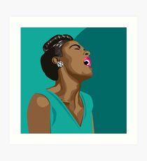 Billie Holiday portrait Art Print