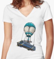 Fortnite Bus Drawing, Colored version Women's Fitted V-Neck T-Shirt