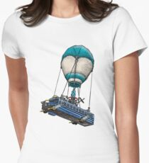 Fortnite Bus Drawing, Colored version Women's Fitted T-Shirt