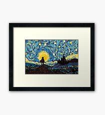 link starry night Framed Print