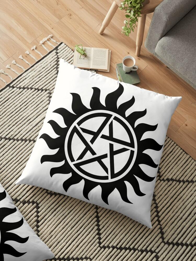'anti possession supernatural tattoo spn' Floor Pillow by PineLemon