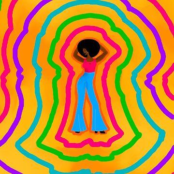 Groovy Soul Train Pop Art by Kikiwiki