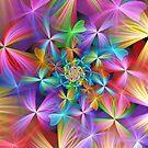 Rainbow Clover Spiral by wolfepaw